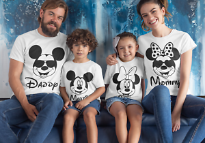 Mickey-Mouse-Family-Matching-T-shirt-DAD-MUM-CUSTOM-Disney-Land-Holiday-Tees