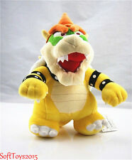 Super Mario Bros. Standing King Bowser Koopa Stuffed Plush Doll Toy 10 Inch Hot