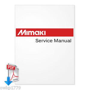 Mimaki jv33 130 160 maintenance manual pdf on cd 152 pages0.
