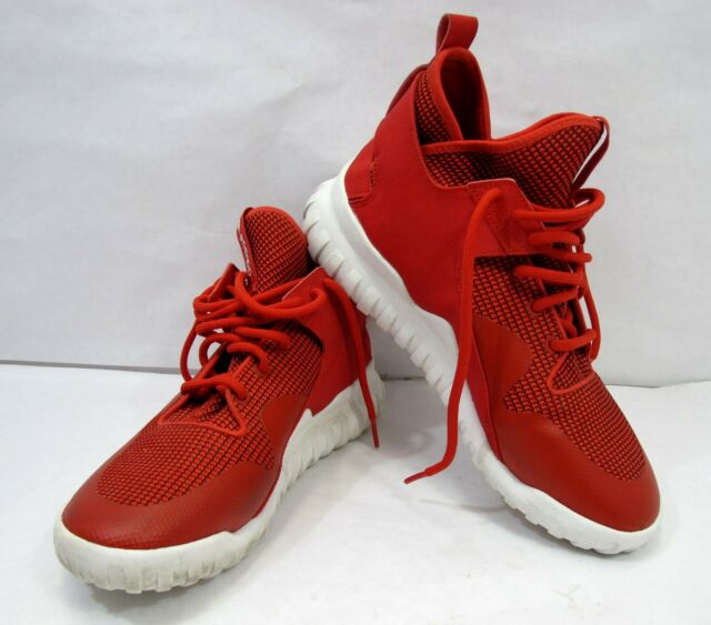 reputable site 7e974 746af Adidas Tubular X S77842 Cool Red White Trainers Men's Shoes Size 9