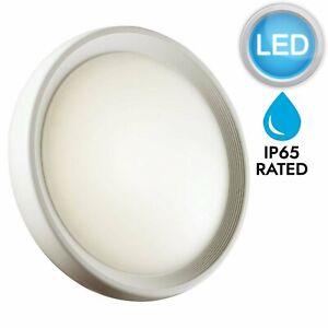 Matt-White-Outdoor-Low-Energy-18W-LED-IP65-Outdoor-Bulkhead-Wall-Light