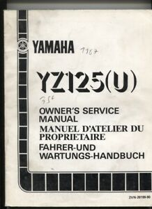 N°98 / Yamaha Yz 125 (u) Manuel Du Proprietaire / Owner's Manual 1987 0ijrut0m-08003418-694544762