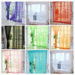 Window-New-Scarf-Voile-Kid-Decor-2mx1m-House-Hot-Door-Tulle-Curtain-Drape-Sheer