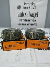 Timken Lm48548 Roller Bearing Cone Lot Of 2 Nos