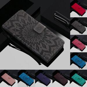 Pour-Samsung-S10-A8s-A20-M10-Tournesol-en-Cuir-Flip-Portefeuille-Carte-Etui-Support