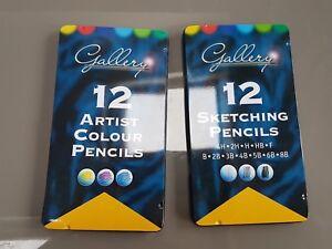 Artiste Couleur Sketching Crayons dans boîtes BNWT scellé 24 in (environ 60.96 cm) total-afficher le titre d`origine