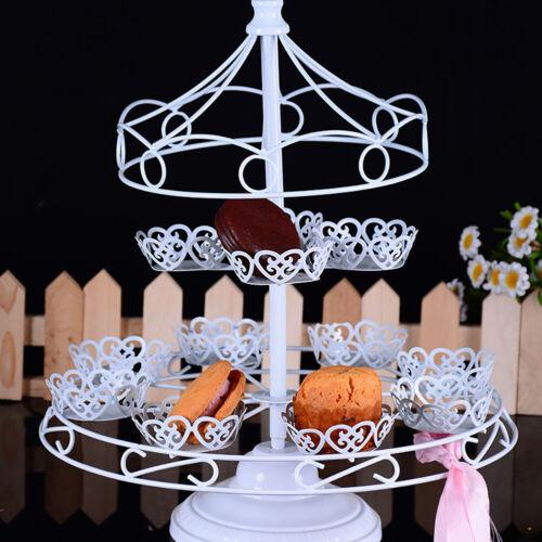Carousel 12 Cupcakes Stand Merry Go Round Muffin Holder Display Kids Birthday UK