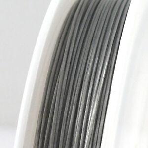 2 m Basteldraht nylon ummantelt 0,5 mm Stärke Basteln Schmuck Draht 1,95€//m