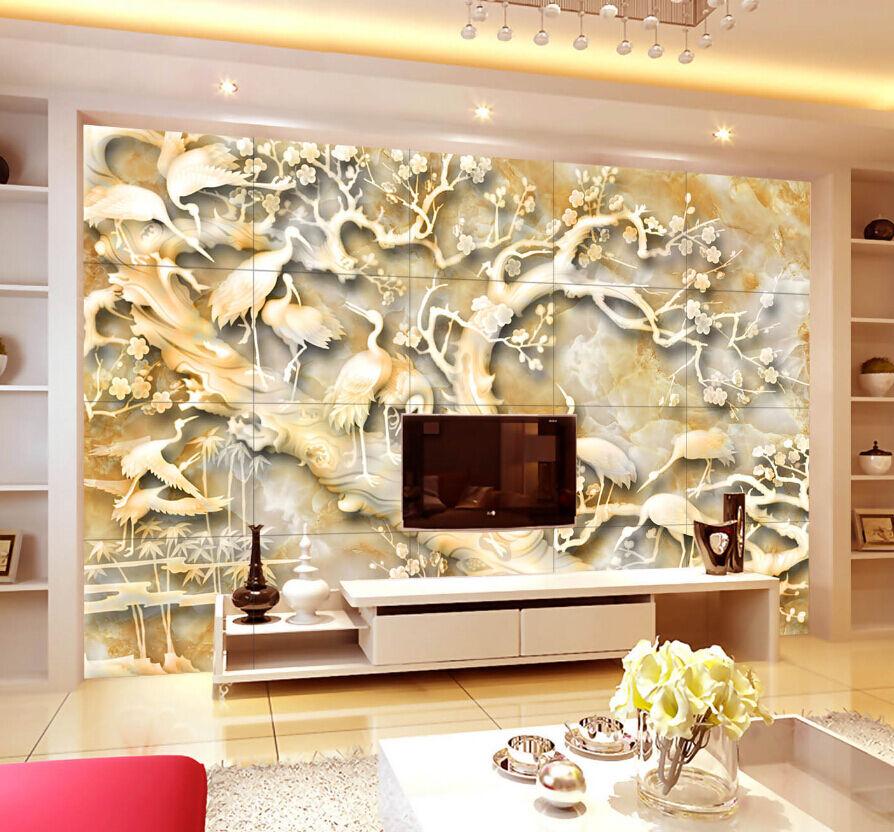 3D Viele Bäume Kran 6788 Fototapeten Wandbild Fototapete BildTapete Familie DE