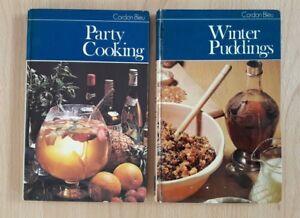 Vintage-Cordon-Bleu-Recipe-Cook-Books-Party-Cooking-amp-Winter-Puddings-Hardback