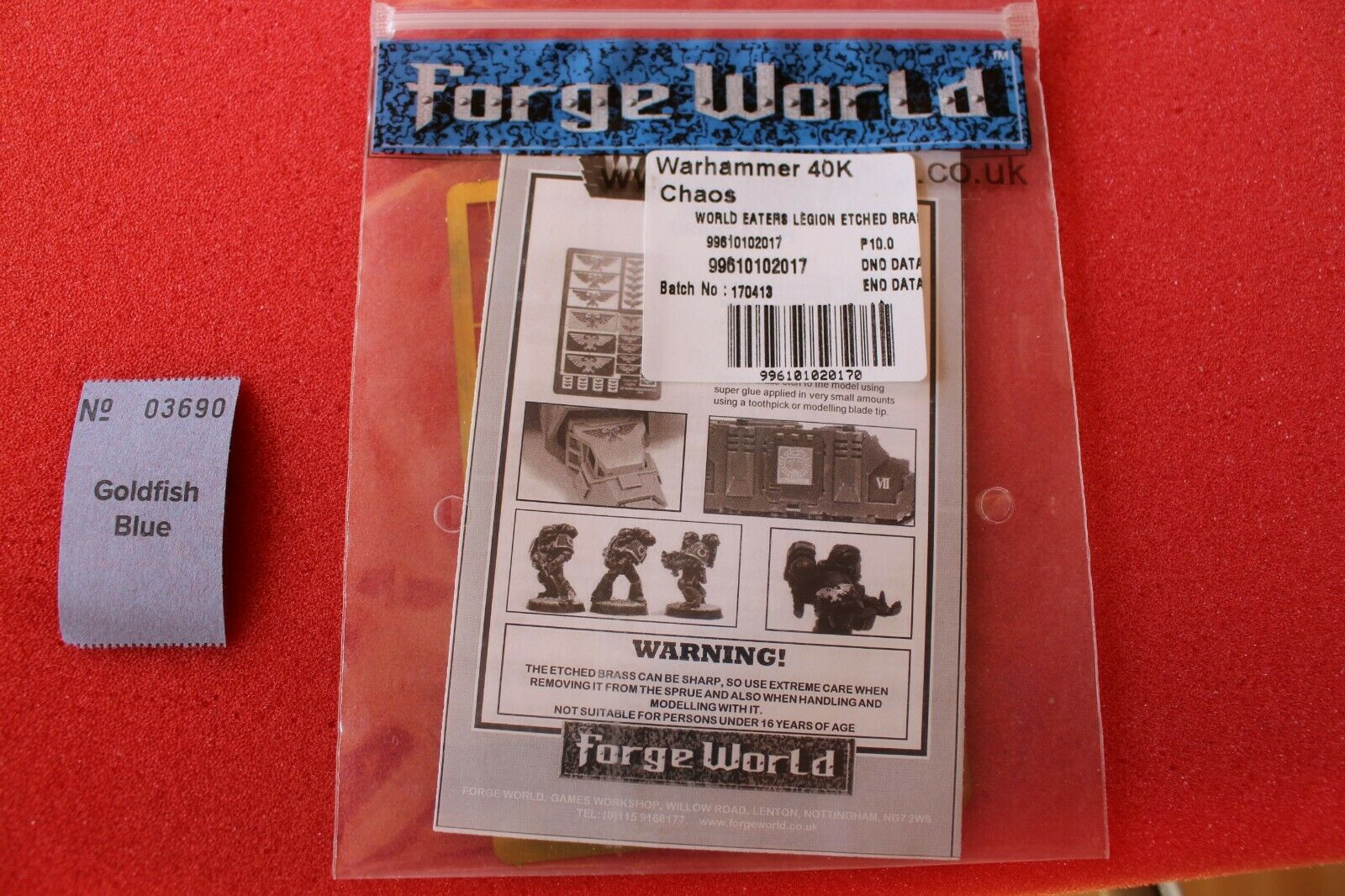 Games Workshop Warhammer 40k Forgeworld World Eaters Etched Brass New Chaos GW