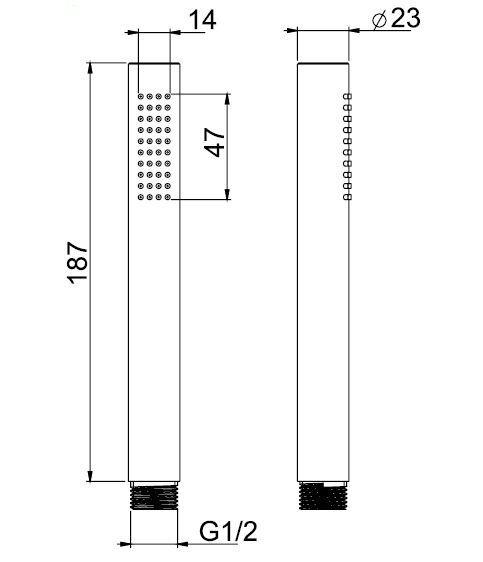 Moderne Stab Stab Stab Handbrause Stabbrause Duschkopf 1 2  aus Messing WEISS matt     | Zu einem niedrigeren Preis  | Verbraucher zuerst  | Exzellente Verarbeitung  498300