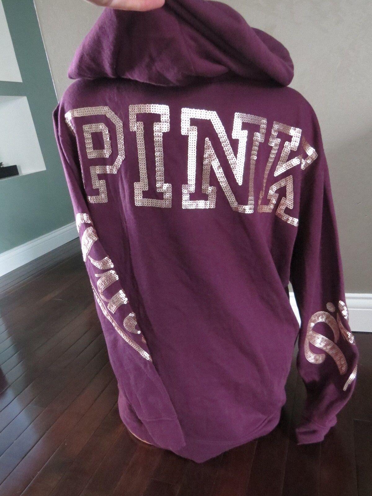Victoria's Secret Secret Secret    PINK Hoodie Sweatshirt SIZE MEDIUM 755ee0