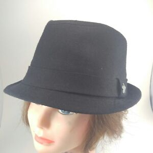 974b82096 Details about Christys' Crown Collection Fedora Hat by Tony Merenda Black  Cotton/Linen Blend