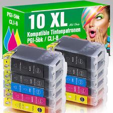 10 Patronen für Canon IP 4500 mit Chip