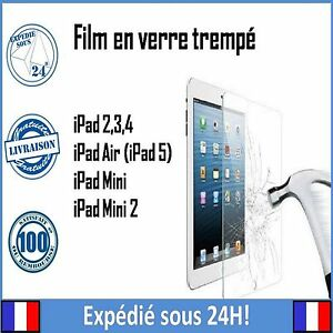 Vitre-Film-protection-verre-Trempe-ecran-incassable-iPad-2-3-4-5-034-Air-034-mini-1-2