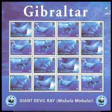 Gibraltar 2006 WWF/Marine/Fish/Devil Ray 16v sht n16204