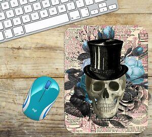 Skull-Mouse-Pad-Easy-Glide-Non-Slip-Neoprene-Mousepad