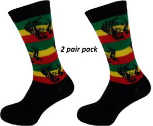 Mens-2-Pair-Pack-Rasta-Man-Striped-Retro-Socks
