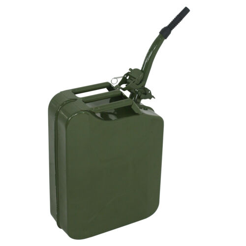 3pcs 20L Green Jerry Can 5 Gallon Gas Fuel Steel Tank Emergency Backup Army