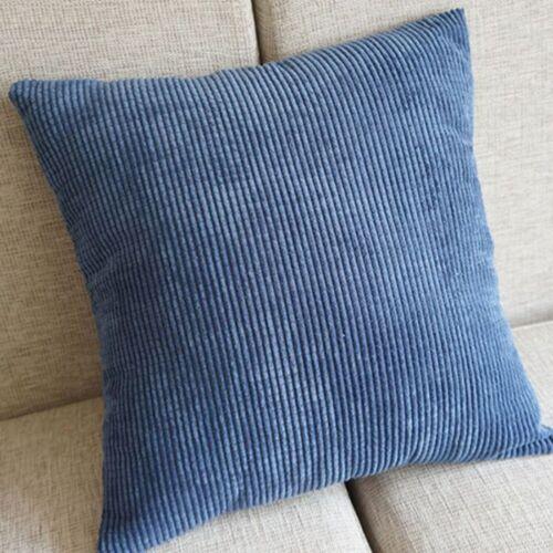 Corduroy Cotton linen Pillow Case Cushion Cover Decorative Square Throw Sofa