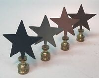 Lamp Finials, Rustic Tin, Star, Western, Texas