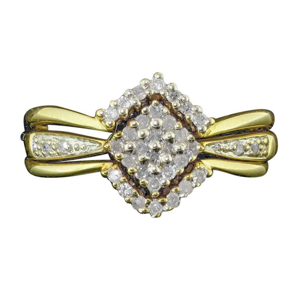 Vintage 9ct Yellow gold And Diamond Ring Set