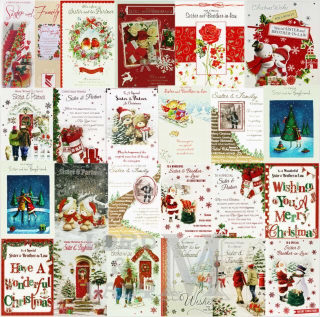 "Hallmark Sister and Fiance Medium Luxury /""Happiness/"" Christmas Card New To Both"