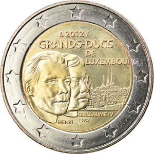 [#913722] Luxembourg, 2 Euro, Grands-Ducs Henri et Guillaume IV, 2012, Utrecht,