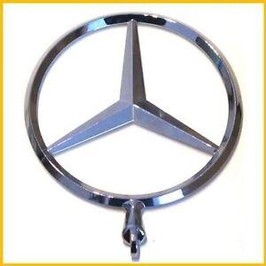 Genuine mercedes benz standing star logo hood ornament for Mercedes benz hood ornament