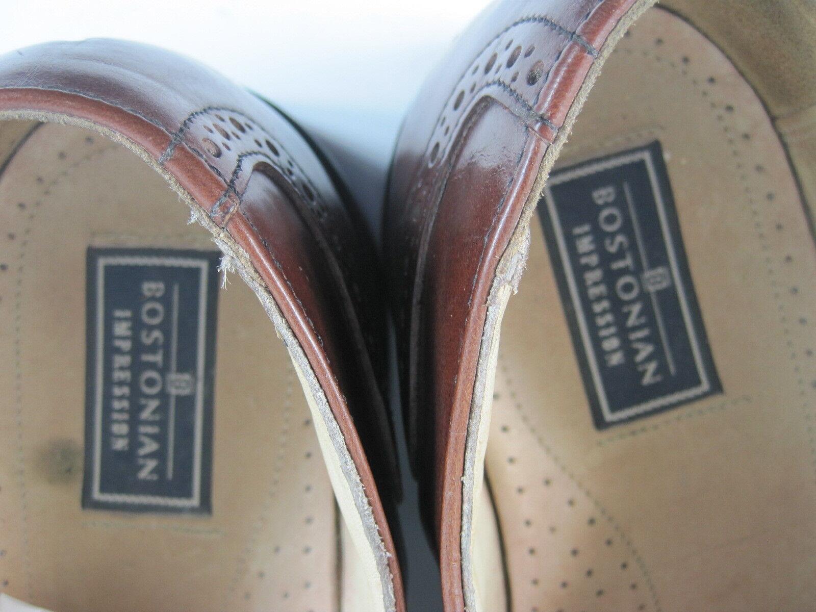 Bostonian Impression Impression Impression Men schuhe Cap Toe Oxford Leather Größe 10 D B braun Made USA d6a003