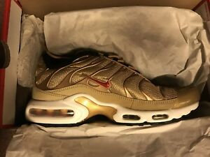 "best selling sells best sneakers Details about Nike Air Max Plus Tn ""Metallic Gold"" QS 903827-700 Mens Size  Sz 8"
