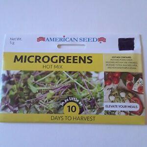 Microgreens Mustard Mizuna Tatsoi Kale Red Kohlrabi Vegetable American Seed