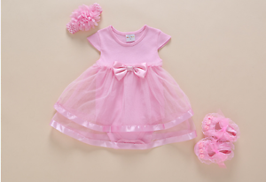 For 22 Reborn Baby Girl Doll Dress Romper Newborn Clothes Toy 0-3M Kids Gifts