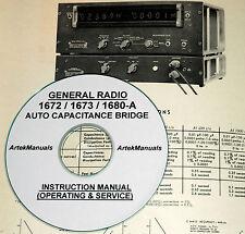 General Radio 1672 A 1673 A 1680 A Auto Cap Bridge Operating Amp Service Manual