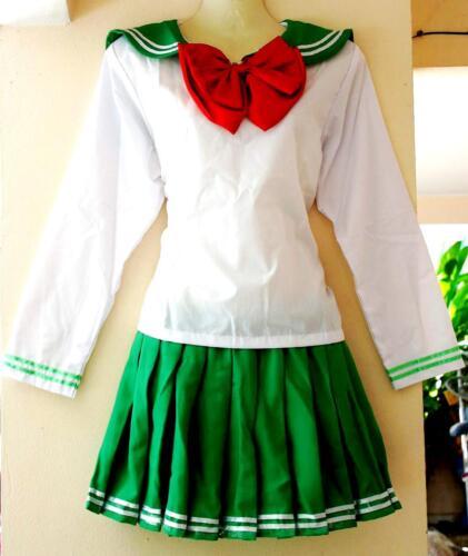 Sailor-Moon Schulmädchen-Uniform Japan//China//Cosplay Kostüm Grün Gr.XS//S//M//L