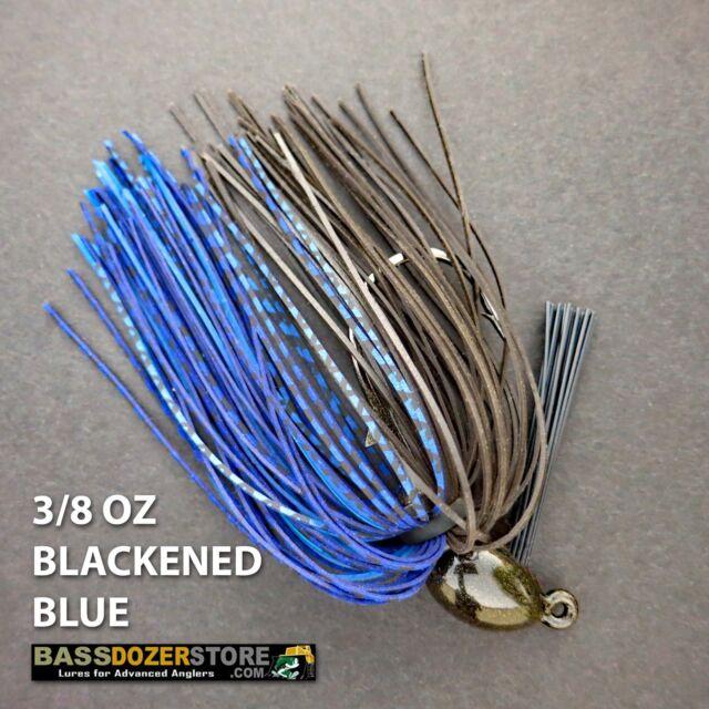 Bassdozer PUNCH 'N FLIP jig. 3/8 oz BLACKENED BLUE weedless bass jigs lures