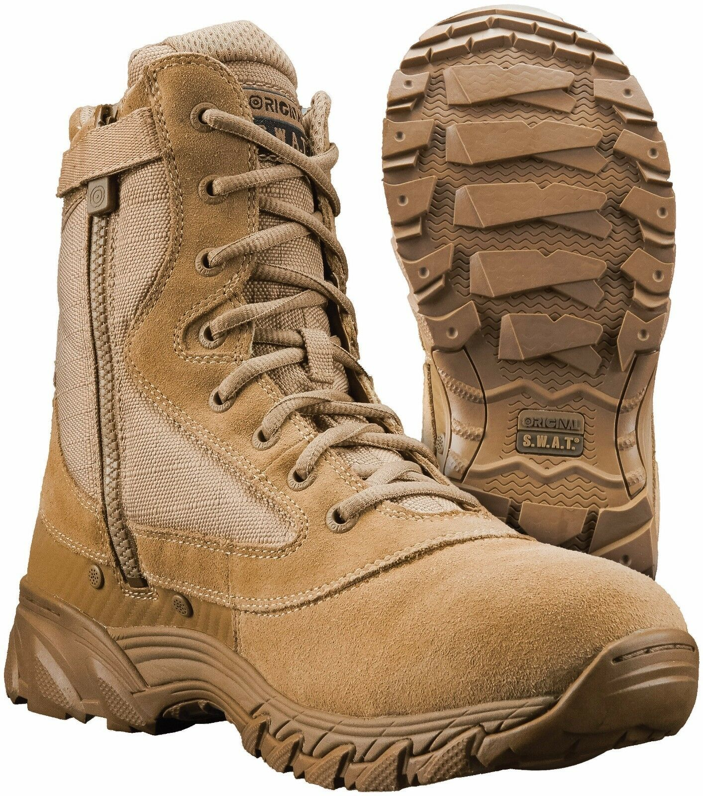 ORIGINAL SWAT CHASE 9 inch Side  Zip Tactical Boot Tan  save 60% discount and fast shipping worldwide