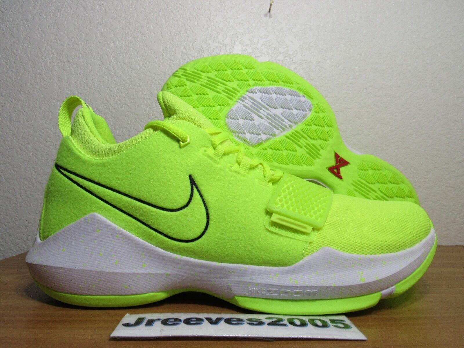 3ed7aebf3406 Men s Nike PG 1 Paul George Size 10 Volt Black White Basketball ...