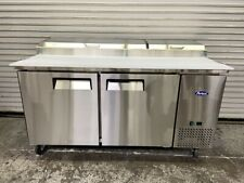 Open Box Special 2 Door 67 Refrigerated Pizza Prep Table Atosa Mpf8202gr 6442