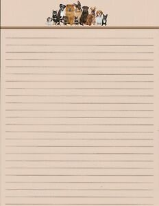 Cute-Dogs-Lined-Stationery-8-5-034-X11-034-25-sheets-and-10-color-coordinated-envelopes