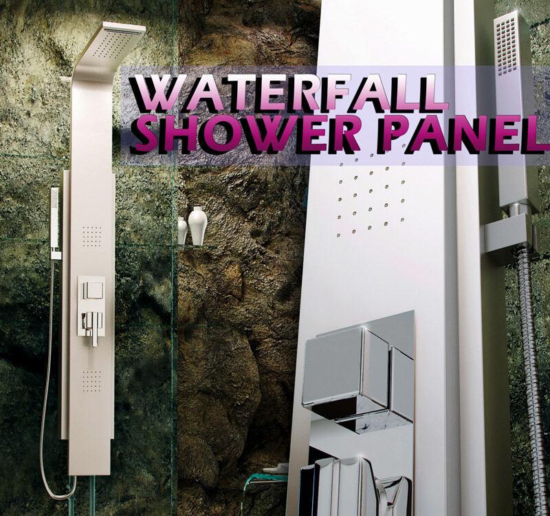 Panneau de douche aluminium 725 carrés jets de massage, tour de colonne Cascade généraux