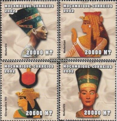 Stamps Stamps Devoted Mosambik 2441-2444 Postfrisch 2002 Altägyptische Herrscher A Complete Range Of Specifications
