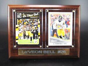 Le-Veon-Bell-Pittsburgh-Steelers-Holz-Wandbild-20-cm-Plaque-NFL-Football