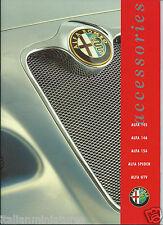 ALFA ROMEO SPIDER GTV 156 146 145 ACCESSORI OPUSCOLO GIUGNO 1999 inglese