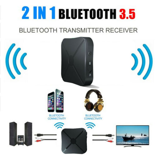 2 in 1 Bluetooth Transmitter/&Receiver Wireless A2DP Home TV Stereo Audio Adapter