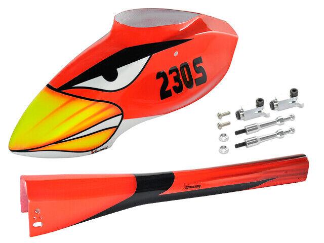 XCanopy Airbrush Fiberglass White Canopy Blade 230S V2 Blade 230S