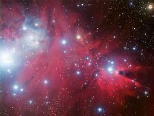 SPACE STARS PINK NEBULA GALAXY UNIVERSE HUBBLE POSTER ART PRINT LV11142