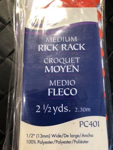 Wrights Medium Rick Rack Black 2 1//2 Yards Sealed Package of 3