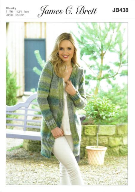 Ladies Sweaters JB188 Knitting Pattern in James C Brett Marble Chunky